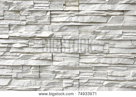 White Artificial Stone Wall