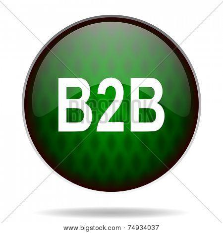 b2b green internet icon