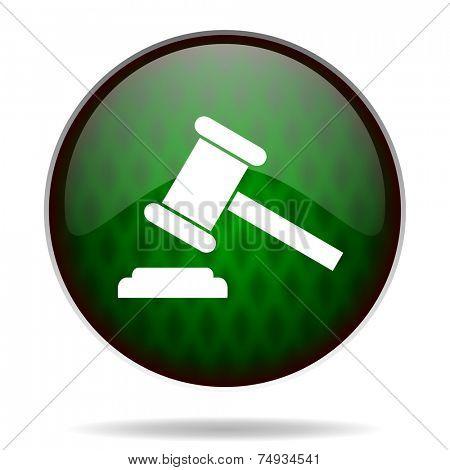 auction green internet icon