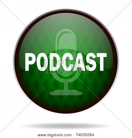 podcast green internet icon