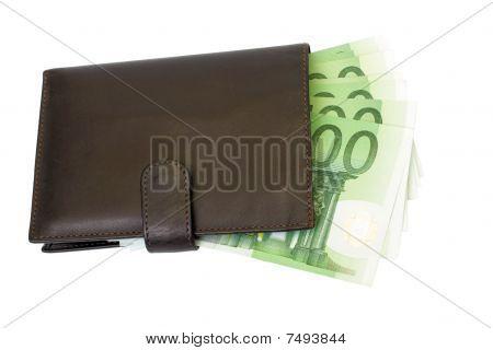 Brieftasche und euro