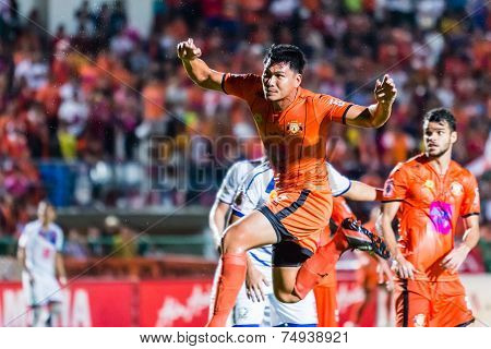 Sisaket Thailand-october 22: Chatchai Mokkasem Of Sisaket Fc. In Action During Thai Premier League B