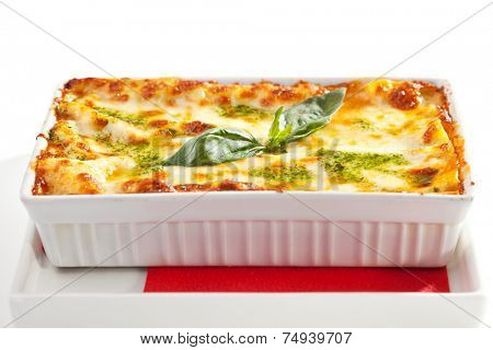 Chicken and Lettuce under Baked Cheese with Pesto