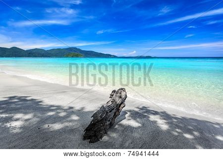 Beautiful Sea And White Sand Beach