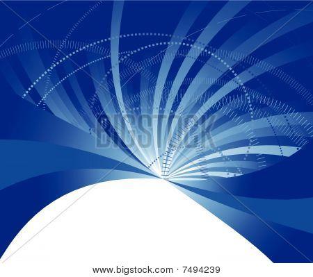 Modelo de banner azul de alta tecnologia