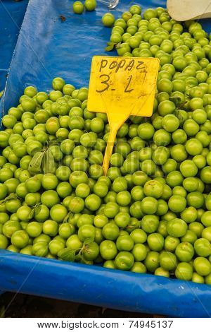 Tart Green Plums For Sale