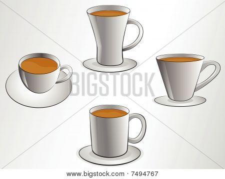 coffee cups vector illustrations