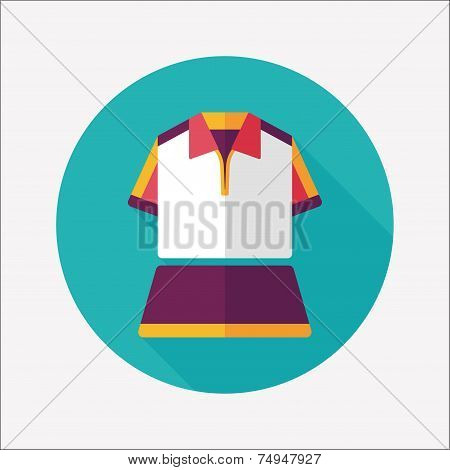 Sport Outfit Flat Icon With Long Shadow,eps10