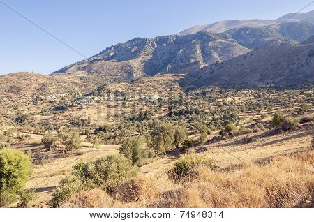 At the foot of the Ida mountain range on Crete