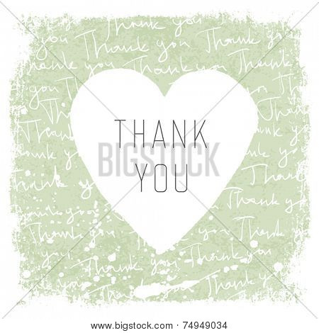 Thank You Vintage Card Design. Vector