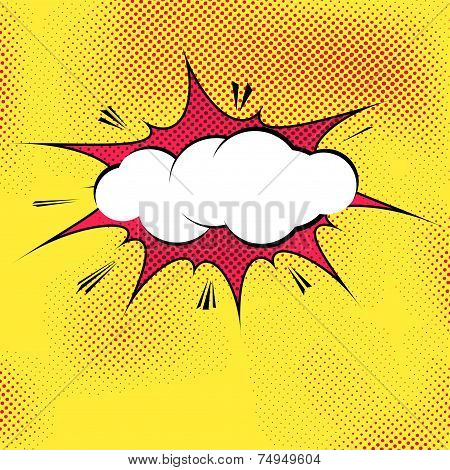 Speech Bubble Pop-art Splash Explosion Template