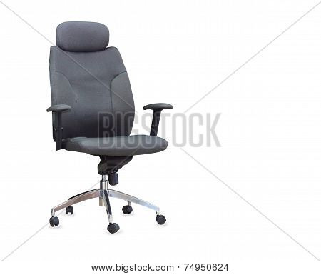 The Gray Office Chair Isolated