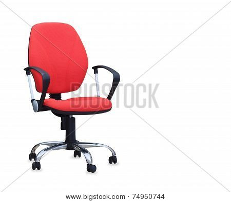 The Red Office Chair Isolated