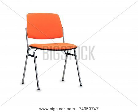 The Orange Office Chair Isolated