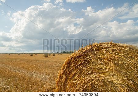 Large Haystack After Harvest