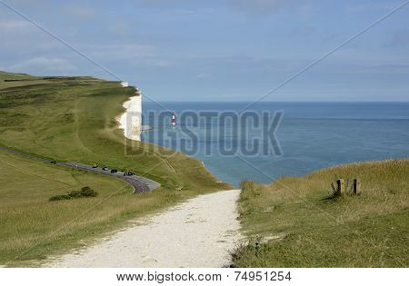 Lighthouse At Beachy Head. England