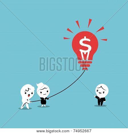 Lightbulb Business Balloon Idea