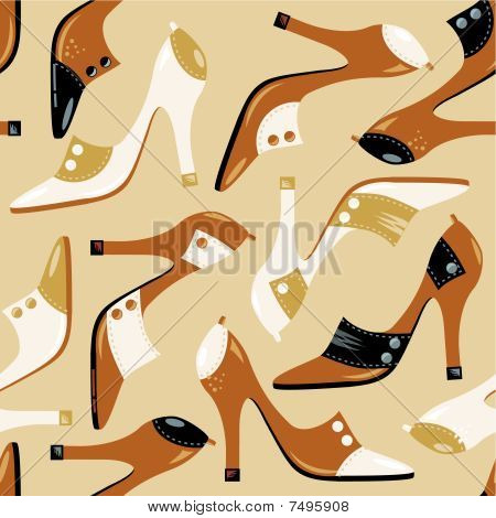 Seamless high-heeled shoes pattern