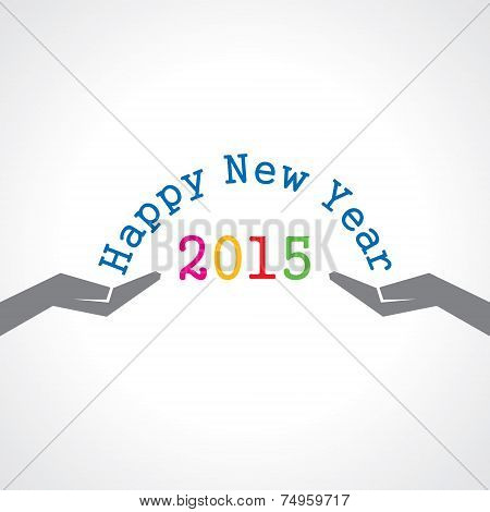 creative concept for new year 2015 stock vector