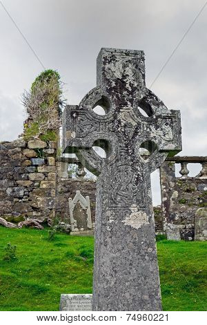 Celtic cross in Scotland