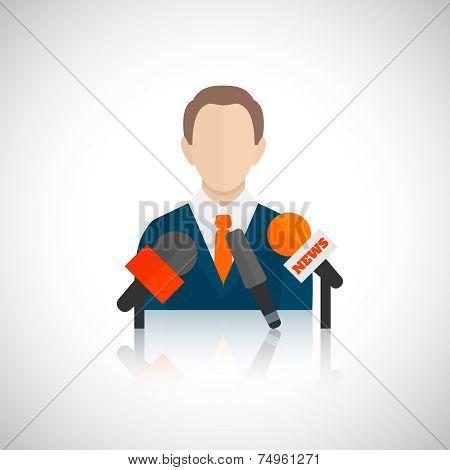 Public speaking icon