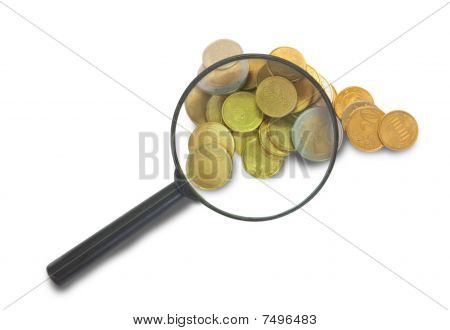 Magnifier And Euro