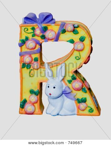 Ceramic toy letter R