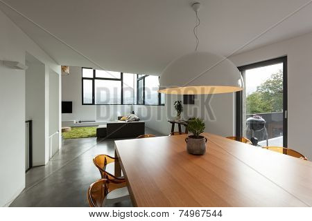 interior, lovely apartment furnished, dining room view
