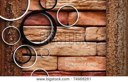 eps10 vector photo realistic brick wall background