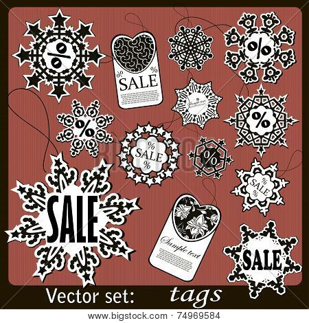 Black Friday sale calligraphic design elements.  Vector Set