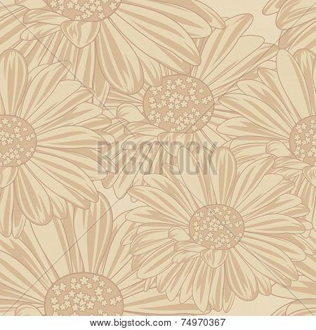 Daisy Seamless Background.