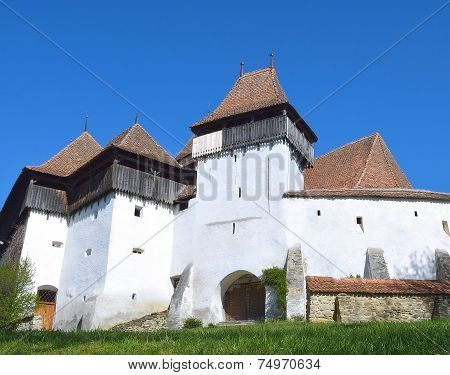 Viscri fortified church, in Transylvania, Romania