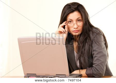 Female Working Or Studying