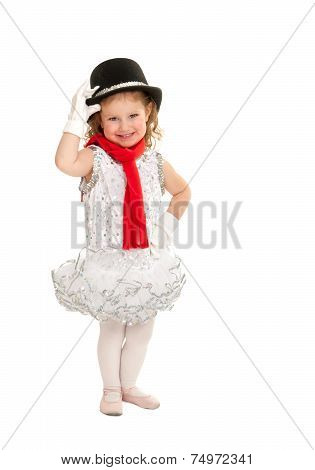 Child In Snowman Christmas Dance Costume
