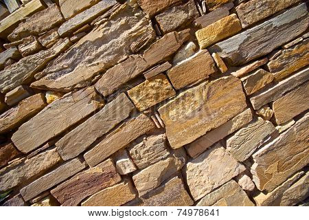 Sandstone Rocks In Wall