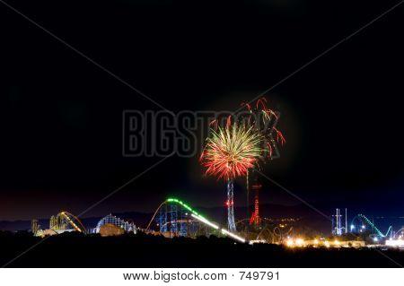 Amusement Park Fireworks
