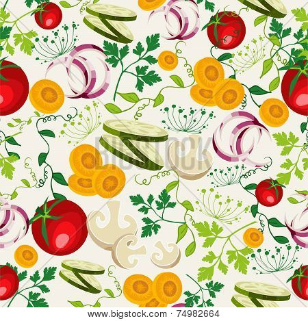 Vegetarian Food Pattern Background