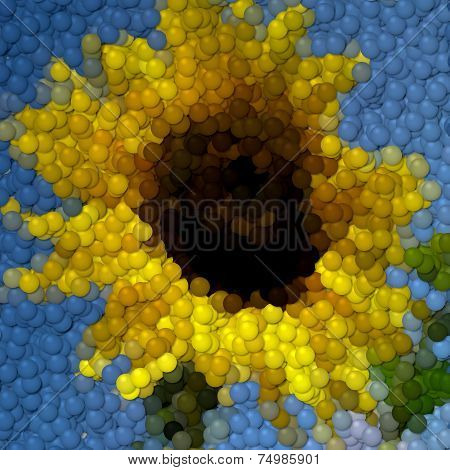 Sunflower Image Balls Generated Hires Texture
