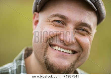 Portrait Of Happy Smiling Bearded Man