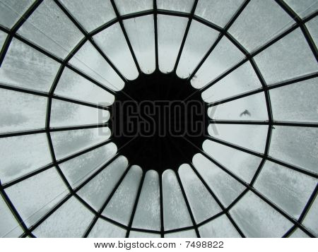Glass Dome on Rainy Day