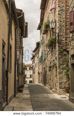 Narrow Streets Of Cortona, Tuscany, Italy