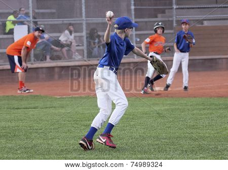 A Right Fielder Looks Back A Runner