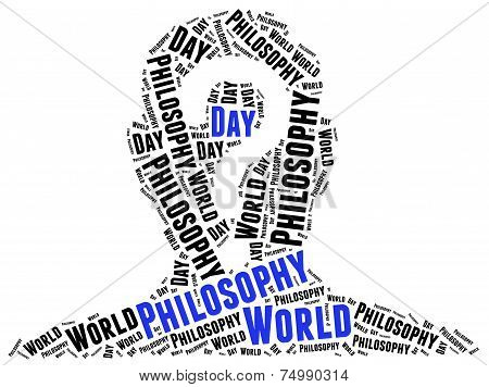 World Philosophy Day. Word Cloud Illustration.
