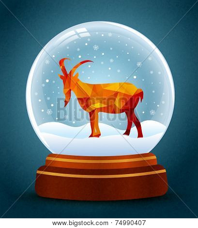 Snow Globe New Year Of Goat