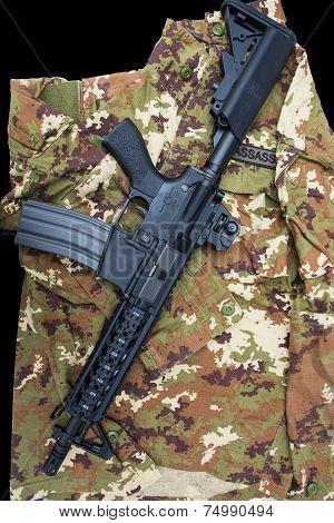Carabine On Uniform.