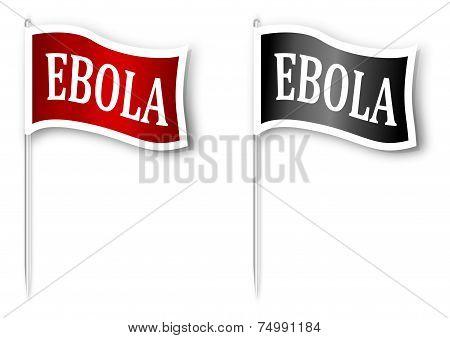 Flag with the inscription Ebola