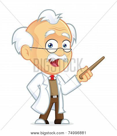 Professor Holding a Pointer Stick
