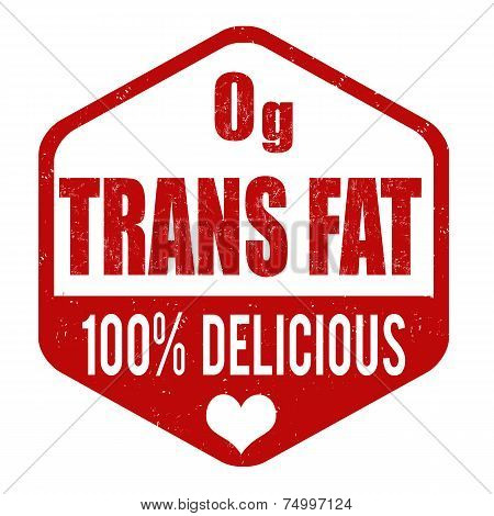 Zerop Grams Trans Fat Stamp