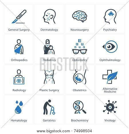 Medical & Health Care Icons Set 2 - Specialties