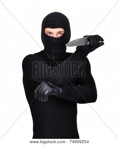 Man Holding Knife